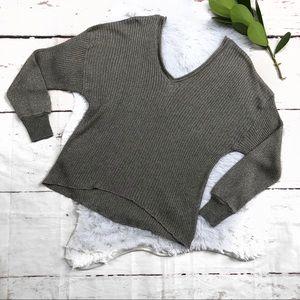 Zara Knit Silver Italia Yarn  V-neck Sweater S